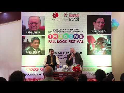 Ruskin Bond at 'IMAGINE' DCLF 2017 Fall Book Festival