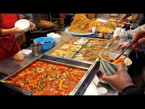 깡통시장 최초 떡볶이집, 튀김, 어묵 / spicy rice cake, fried food, fish cake - korean street food