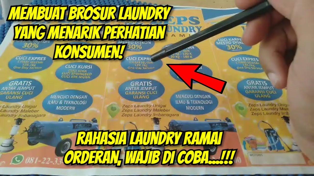 Cara Membuat Brosur Laundry Tips Dan Trik Promosi Laundry Agar Ramai Dan Tidak Sepi Konsumen Youtube