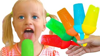 Fruits Ice Cream Popsicles | Nursery Rhymes Song with Katya and Dima