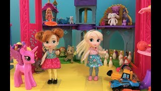 Toy Hunt! Elsa & Anna Toddlers go Toy Shop! Barbie's Toy Store! Little Anna has a Tantrum +Balloons!