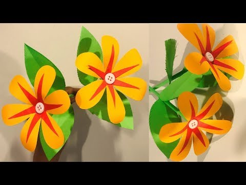 DIY- How To Make Beautiful Paper Flowers- Making Paper Flowers Step By Step  With Crafts- Work DIY