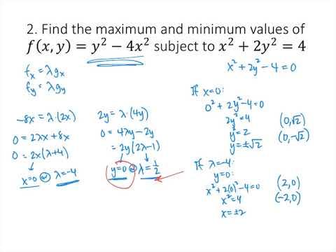 Lagrange Multipliers Practice Problems