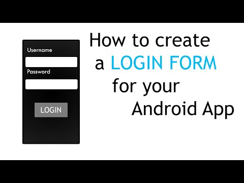 How to create a Login form for your Android App