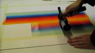 Monotype - printing rainbow colours