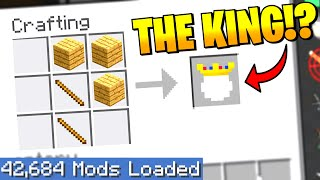 Largest Minecraft Modpack but EVERY crafting recipe is RANDOM 5