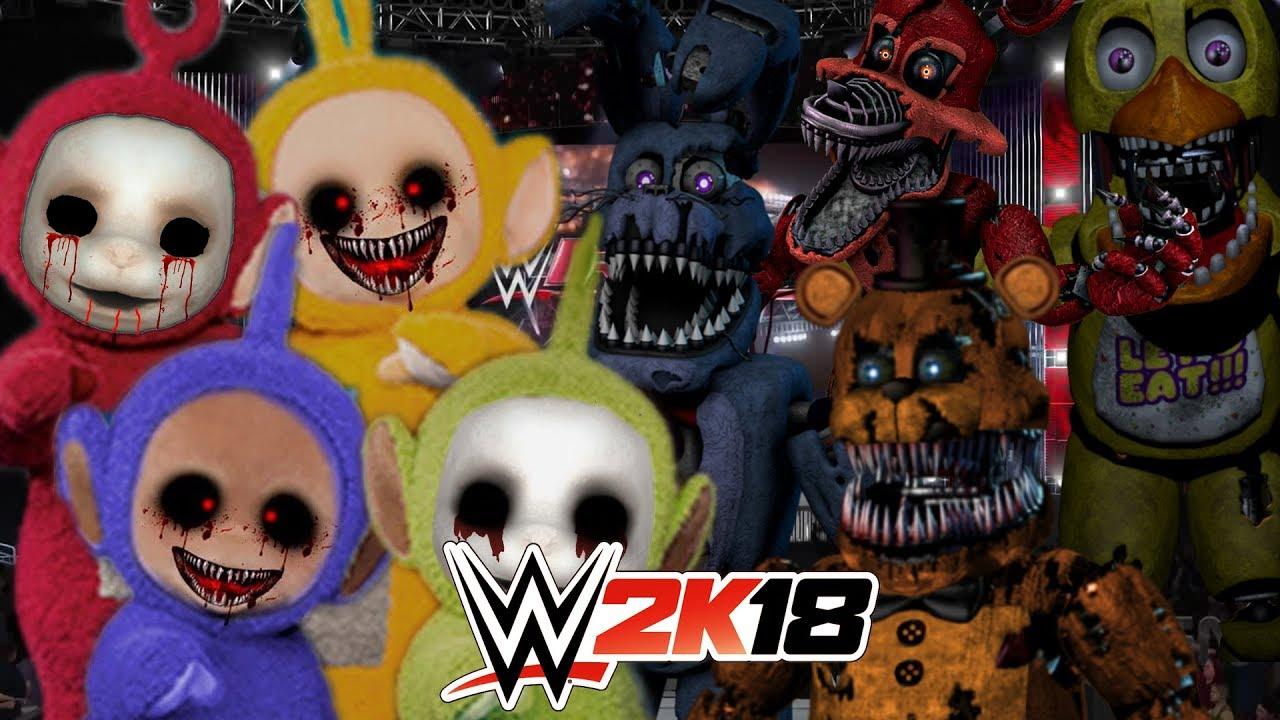 TELETUBBIES.EXE VS FNAF | WWE 2K18 - YouTube