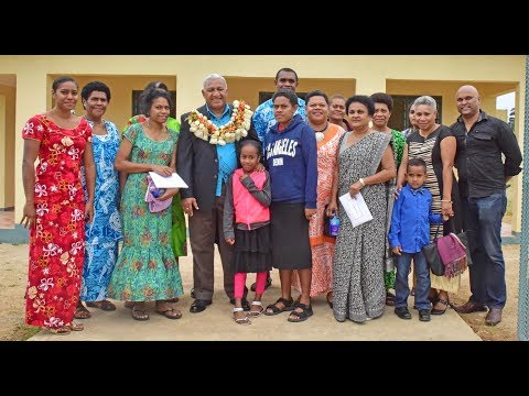 Fijian Prime Minister hands over Welfare Housing Assistance to Discpline Forces.