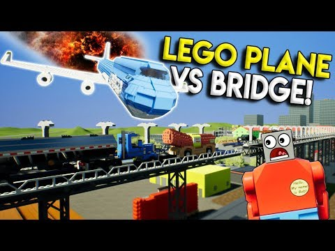 LEGO 747 PLANE CRASHES INTO BRIDGE! - Brick Rigs Gameplay Challenge & Creations - Crash Challenge