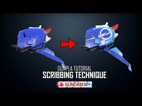 Gunpla Tutorial : Scribbing Technique (Project: S-Gundam Part 4)
