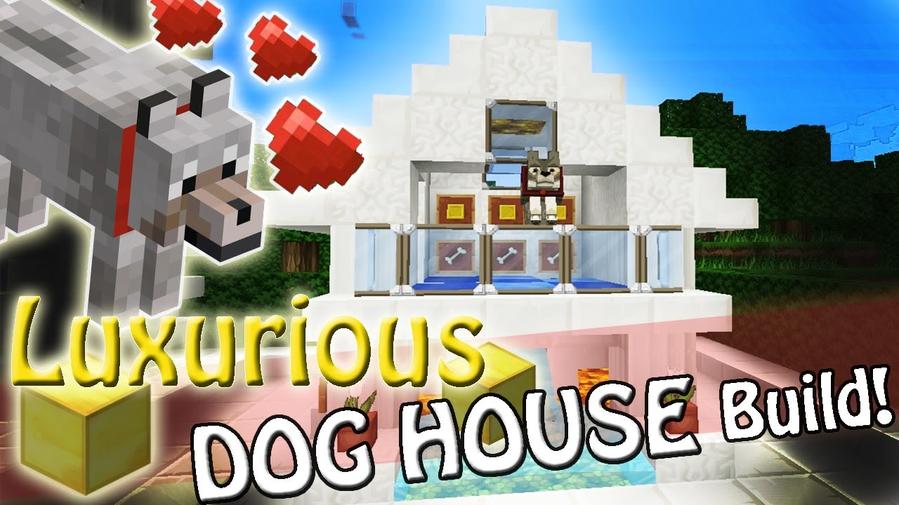 Minecraft luxury dog house design sss build youtube for Big modern dog house