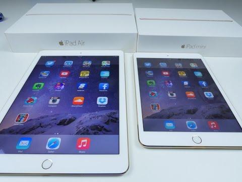 iPad Air 2 VS iPad Mini 3 SPEED TEST and Comparison