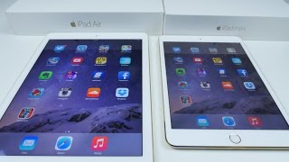 iPad Air 2 VS iPad Mini 3 SPEED TEST and Comparison