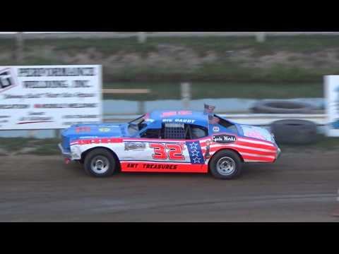 Street Stock B-Feature at Crystal Motor Speedway, Michigan on 07-22-2017