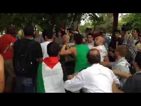 Pro-Israel U.S. Marine Manny Vega Attacked by Pro-Palestinians in Washington, DC - #2DC4Gaza