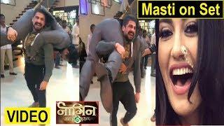 Nagin 3 Stars off set Masti | Watch Video | Bella-Vikrant | Fun on set | #Naagin3 | FCN