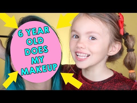 6 YEAR OLD DOES MY MAKEUP