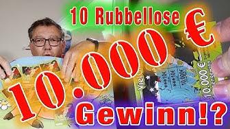 10 Rubbellose und ein Gewinn von 10.000€