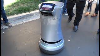 Savioke Relay service robot presentation at Disney Accelerator demo day 2017