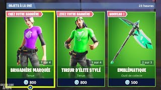 "8 NEW SKINS ""BRIGADE OF THE BANNER"" - PLANOR, PIOCHE...! FORTNITE BATTLE ROYALE"
