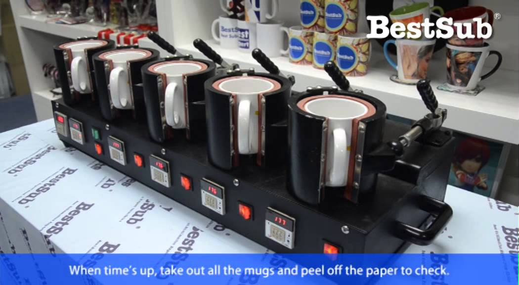 how to sublimate mugs with 5 in 1 mug press from bestsub. Black Bedroom Furniture Sets. Home Design Ideas