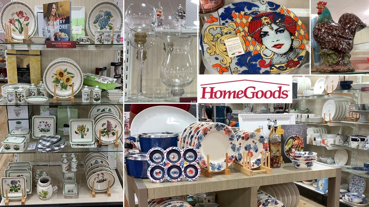 HomeGoods Kitchen Home Decor | Dinnerware Kitchenware Table Decoration Ideas | Shop With Me Aug 2020