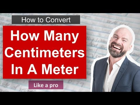 How Many Centimeters In Meter