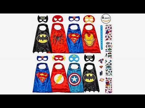 Dress Up Clothes for Boys and Girls Superhero Capes for Kids Toys Super Hero Party Supplies Birthday Dropplex