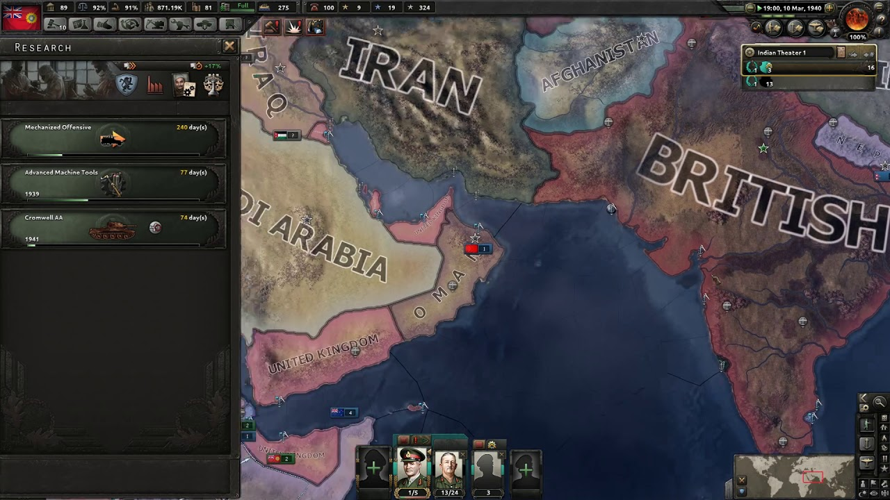 Hearts of Iron 4 MP - Horstorical Multiplayer Mod - British Raj #5