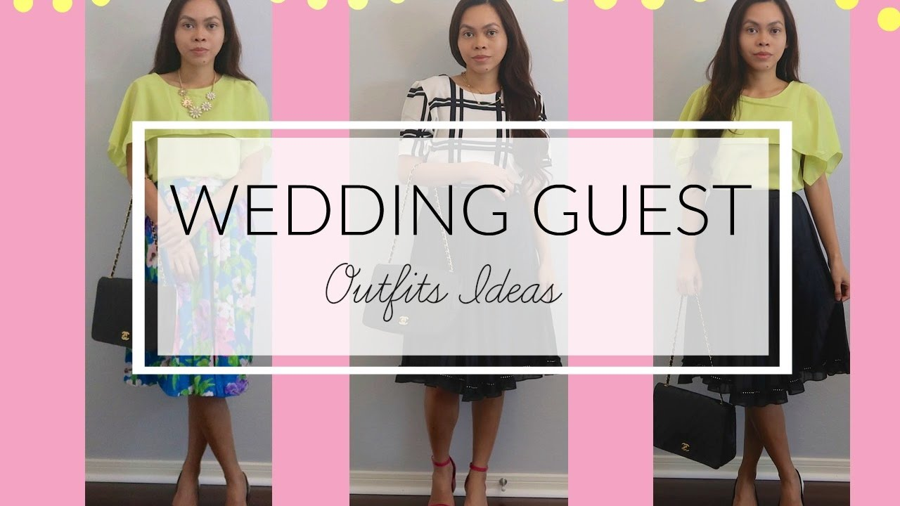 SPRING WEDDING GUEST OUTFIT IDEAS, JustFashionNow - YouTube