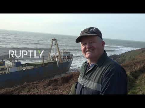 """Ireland: """"Ghost"""" Ship Washed Ashore By Storm Dennis After Over Year Adrift"""