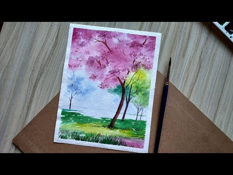 simple and easy watercolor landscape painting | Paint with David
