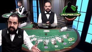 ONLINE BLACKJACK DEALER CEZAR vs £2,000 HIGH STAKES! £150 MINIMUM BETS at Mr Green Live Casino!