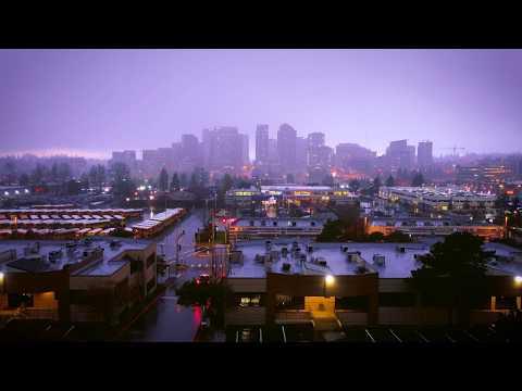Recording a Rainy City Skyline Sound in Bellevue, WA