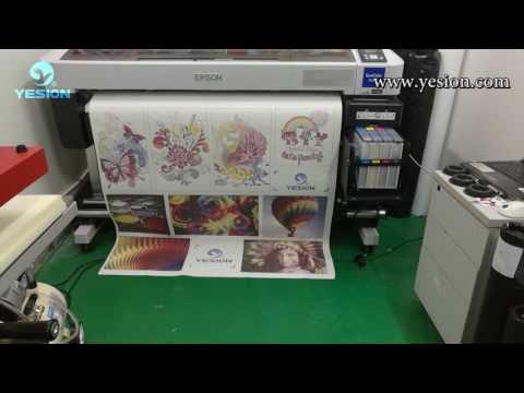 Dye Sublimation Paper Print With Epson Sublimation Printer  Test For Mecolour Heat Press Machine