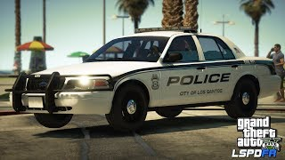 """GTAV-LSPDFR Day-334,  Tampa Bay Police, Never say """"its quiet"""", Road to 10K!"""