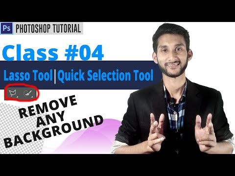 Photoshop Tutorial : Remove Background From Any Photo   Lasso Tool,Quick Selection Tool   Class #04