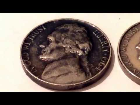 1964 Jefferson Nickel No Mint marks Rare and Expensive US Coin Value Collection Монеты США Five Cent