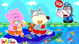 No No Breaking the Pool Rules! - Wolfoo Learns Good Manners for Kids   Wolfoo Family Kids Cartoon