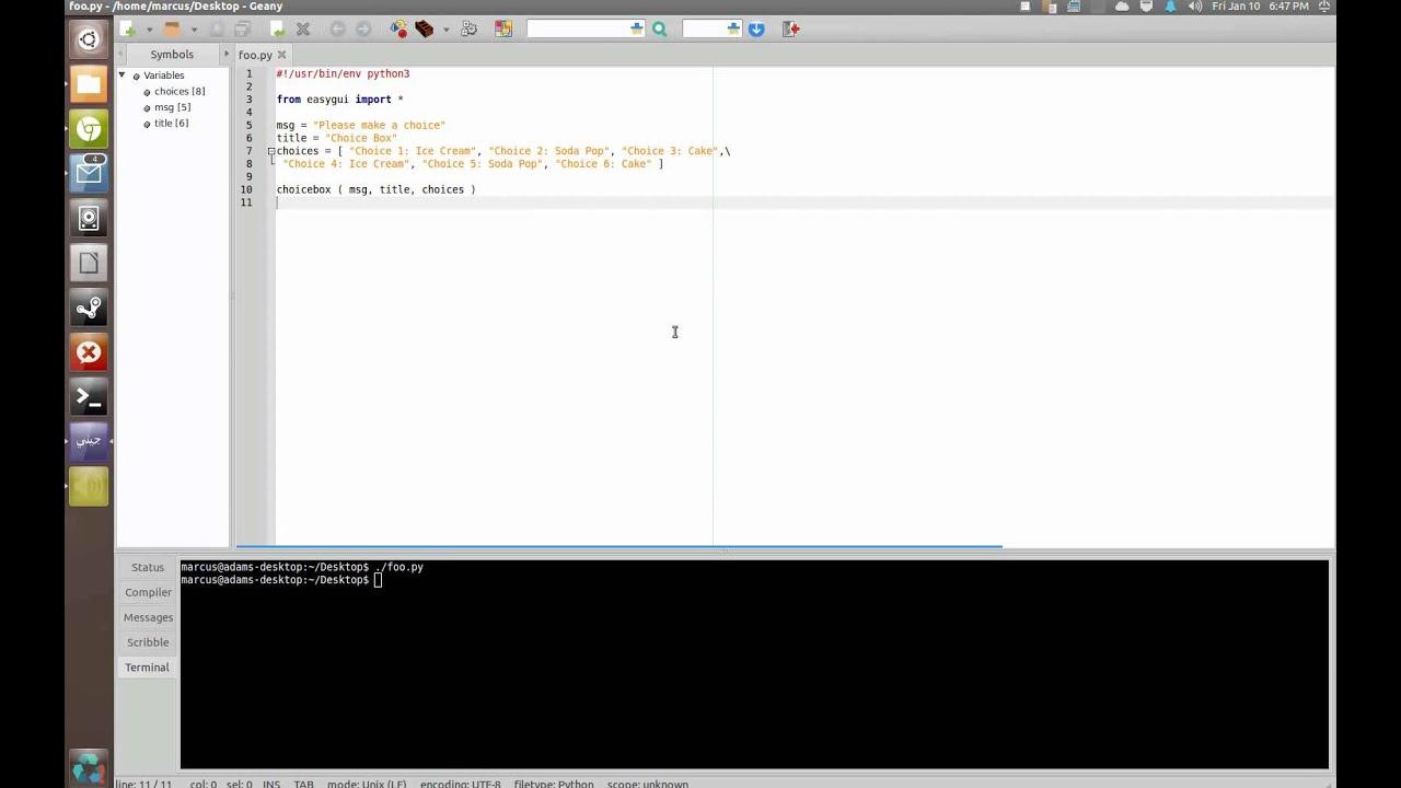 Python Turotial: EasyGUI Part 4 - Choice Box