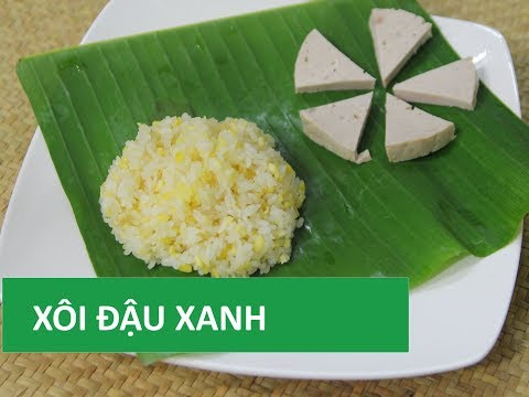 Cách nấu XÔI ĐẬU XANH nước cốt dừa đơn giản   Món Việt