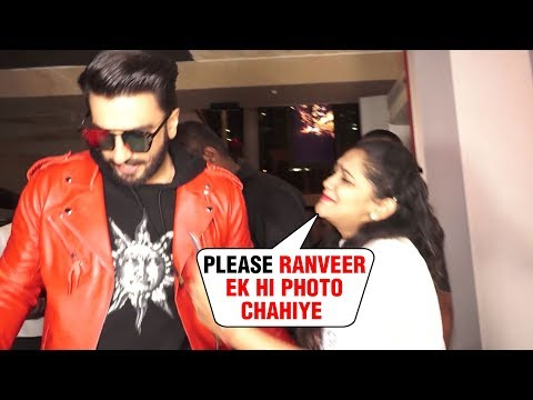 Ranveer Singh IGNORES A Crying Female Fan Asking For A Photo