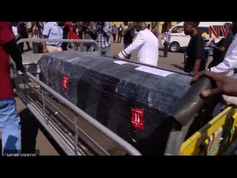 Relatives, friends receive body of Ivan Ssemwanga