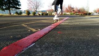 Practicing 50 50s on a red curb