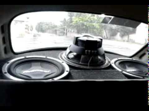 sonido en vocho, 3 subwoofers pionner en vocho 4 - YouTube