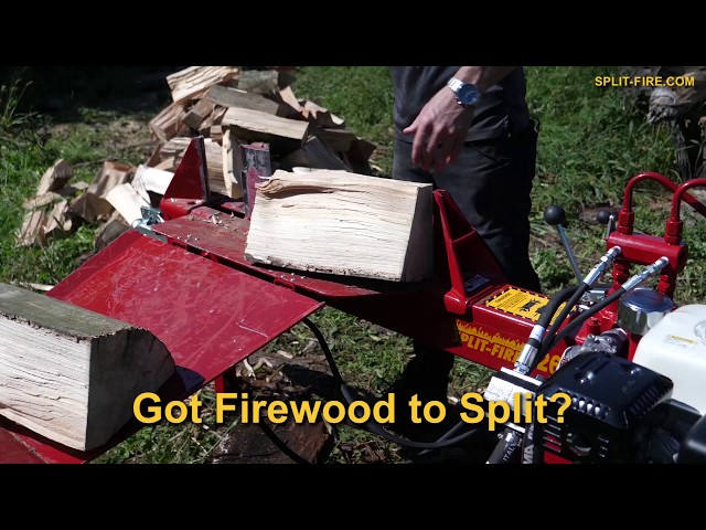 GOT FIREWOOD TO SPLIT? - Do it Safer and 2x Faster w/ SPLIT-FIRE® 2265 Gas Powered Log Splitters