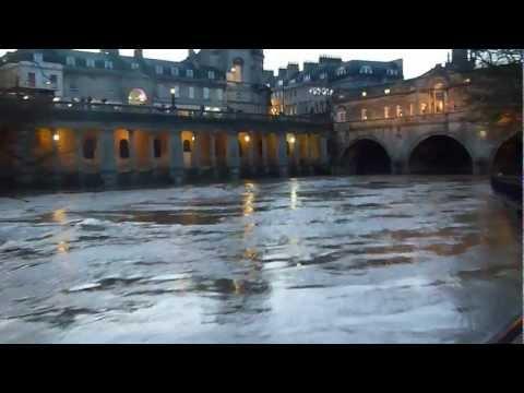 Pulteney Weir in Bath Flooding