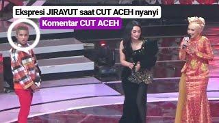 Ekspresi JIRAYUT ketika CUT Aceh nyanyi