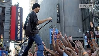 Enrique Iglesias - Be With You (LIVE at The Times Square) [High Quality audio, LQ video]