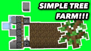 *NEW* EASY And EFFICIENT TREE FARM For Minecraft Bedrock!!! (Tutorial / How To)